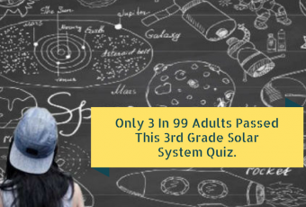 Only 3 In 99 Adults Passed This 3rd Grade Solar System Quiz.