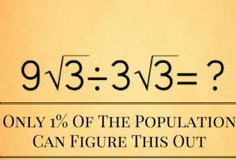 Only 1% Of The Population Can Figure This Out