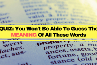 QUIZ: You Won't Be Able To Correctly Guess The Meaning Of All Of These Words.